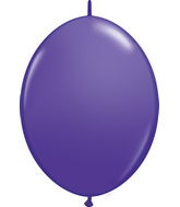 "12"" Qualatex Latex Quicklink Purple Violet 50 Count"