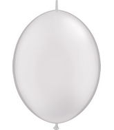 "12"" Qualatex Latex Quicklink Pearl White 50 Count"