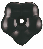 "6"" Geo Blossom Latex Balloons  (50 Count) Onyx Black"