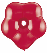 "6"" Geo Blossom Latex Balloons  (50 Count) Ruby Red"