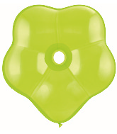 "6"" Geo Blossom Latex Balloons  (50 Count) Lime Green"
