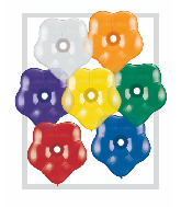 "6"" Geo Blossom Latex Balloons  (100 Count) Jewel Assort"