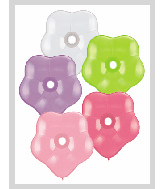 "6"" Geo Blossom Latex Balloons  (100 Count) Flower Assort"
