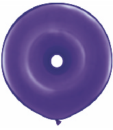 "16"" Geo Donut Latex Balloons (25 Count) Quartz Purple"