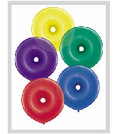 "16"" Geo Donut Latex Balloons (50 Count) Radiant Jewel"