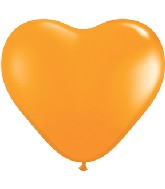 "6"" Heart Latex Balloons (100 Count) Orange"