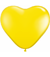 "6"" Heart Latex Balloons (100 Count) Citrine Yellow"