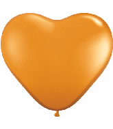 "6"" Heart Latex Balloons (100 Count) Madarin Orange"