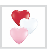 "6"" Heart Latex Balloons (100 Count) Sweetheart Assortment"
