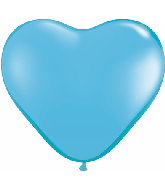 "6"" Heart Latex Balloons (100 Count) Pale Blue"