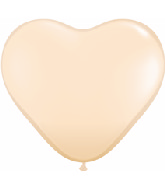 "6"" Heart Latex Balloons (100 Count) Blush"