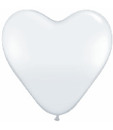 "11"" Heart Latex balloons (100 Count) Diamond Clear"