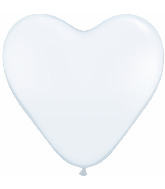 "12"" 100 Count White Heart Balloon"