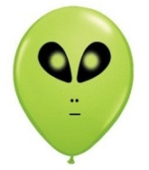 "5"" Lime Green Space Alien 100 per bag"