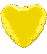 "36"" Heart Foil Mylar Balloon Citrine Yellow"