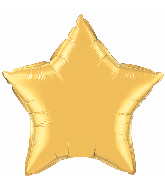 "36"" Star Foil Mylar Balloon Metallic Gold"