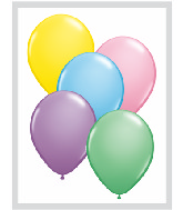 "5""  Qualatex Latex Balloons  PASTEL ASSORT     100CT"