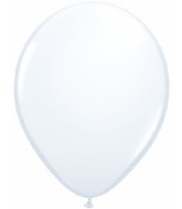 "5""  Qualatex Latex Balloons  WHITE          100CT"