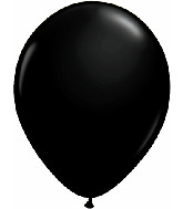 "11"" Qualatex Latex Balloons 25 Per Bag Onyx Black"