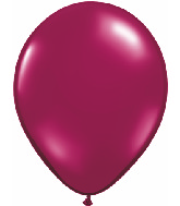 "11"" Qualatex Latex Balloons 25 Per Bag Sparkling Burgundy"