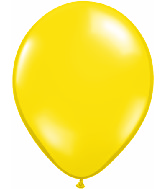 "11"" Qualatex Latex Balloons 25 Per Bag Jewel Citron Yellow"