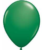 "11"" Qualatex Latex Balloons 25 Per Bag Green"