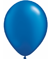 "11"" Qualatex Latex Balloons 25 Per Bag Pearl Sapphire"