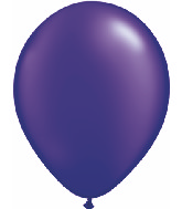 "11"" Qualatex Latex Balloons 25 Per Bag Jewel Quartz Purple"