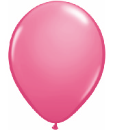 "11"" Qualatex Latex Balloons 25 Per Bag Rose"