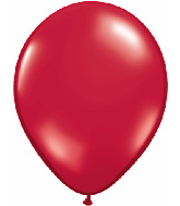 "11"" Qualatex Latex Balloons 25 Per Bag Jewel Ruby Red"