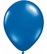 "11"" Qualatex Latex Balloons 25 Per Bag Jewel Sapphire Blue"