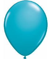 "11"" Qualatex Latex Balloons 25 Per Bag Tropical Teal"