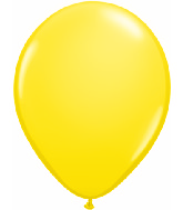 "11"" Qualatex Latex Balloons 25 Per Bag Yellow"