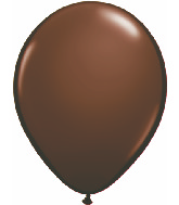 "11"" Qualatex Latex Balloons 25 Per Bag Chocolate Brown"