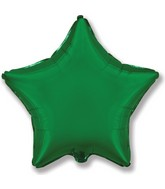 "32"" Jumbo Metallic Green Star"