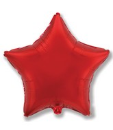 "32"" Jumbo Metallic Red Star"