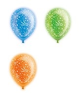 "10"" Stars Latex Light Up Airfill Balloons 5 Count"