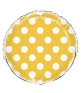 "18"" Sunflower Yellow Polka Dots Balloon"