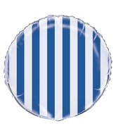 "18"" Royal Blue Stripe Balloon"