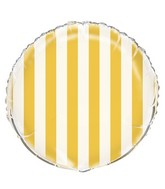 "18"" Sunflower Yellow Stripe Balloon"