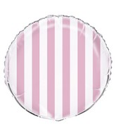 "18"" Lovely Pink Stripe Balloon"