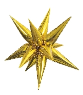 "40"" Gold Jumbo Star-Burst Balloon Airfill Only"