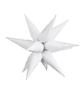 "27.5"" Star-Burst Balloon White Airfill Only"