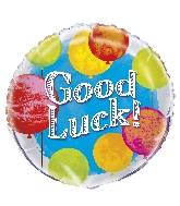 "18"" Foil Balloon Bulk - Bright Good Luck"