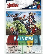 "12"" 8 Count Latex Balloons - Avengers"