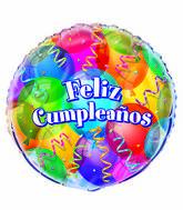 "18"" Feliz Cumpleanos Foil Balloon Packaged"