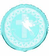 "18"" Dove Cross Blue Communion"