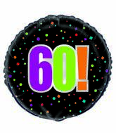 "18"" 60th Birthday Cheer Foil Balloon"
