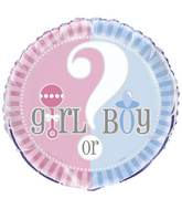 "18"" Gender Reveal Pink & Blue  Packaged"