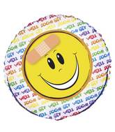 "18"" Get Well Happy Face Foil Balloon"
